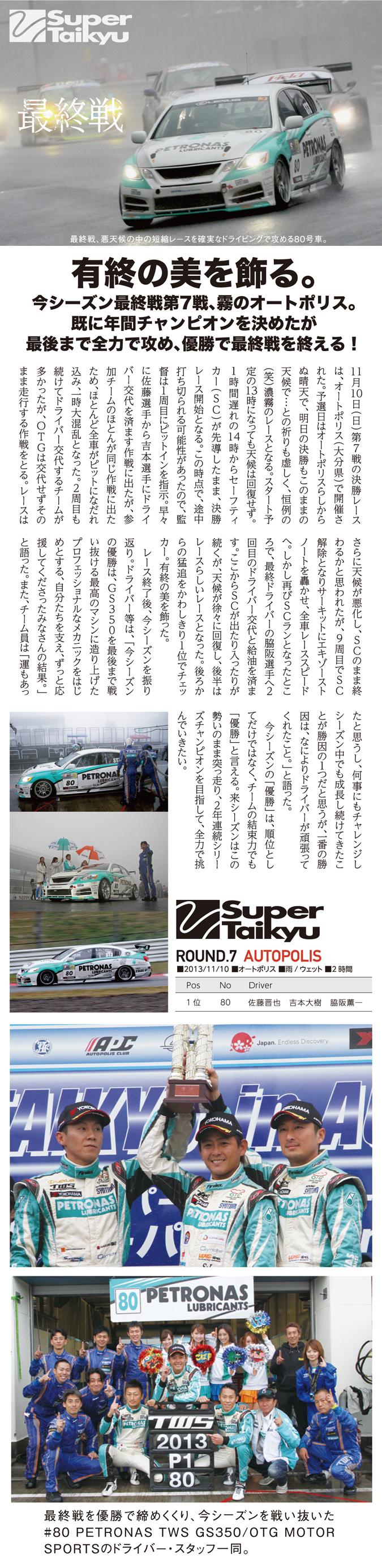 スーパー耐久レース7